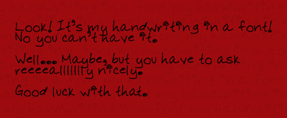 handwritinginafont