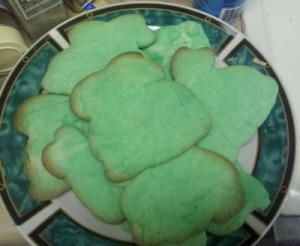 Green bunny sugar cookies